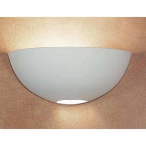 Great Aegina Bisque Half-Moon Wall Sconce