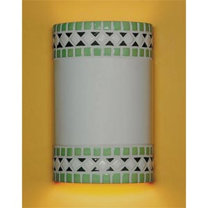 Borders Mint Green Wall Sconce