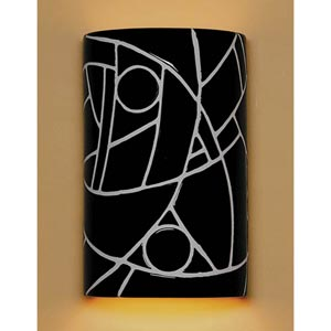 Picasso Black Wall Sconce