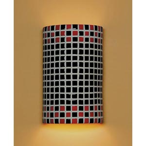 Checkers Black and Red Wall Sconce