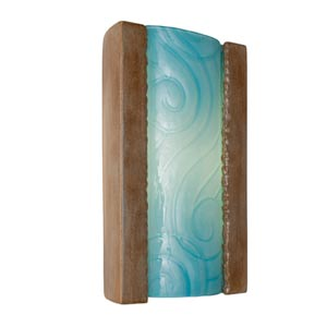 Clouds Spice and Turquoise Sconce
