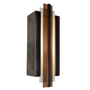 Empire Gunmetal and Rosewood Sconce