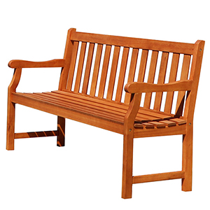 Baltic 5-foot Eucalyptus Wood Garden Bench
