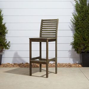 Renaissance Outdoor Hand-scraped Hardwood Bar Chair