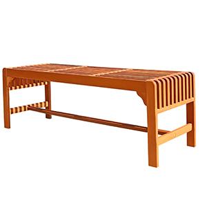 Backless 5-foot  Eucalyptus Wood Bench