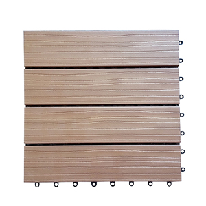 12 x 12 Eco-Friendly Wood-Plastic Composite Interlocking Decking Tile - Cedar