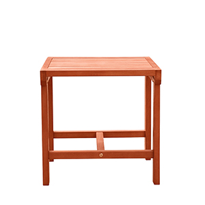 Malibu Natural Wood Outdoor Patio Side Table