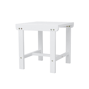 Bradley White Outdoor Wood Side Table