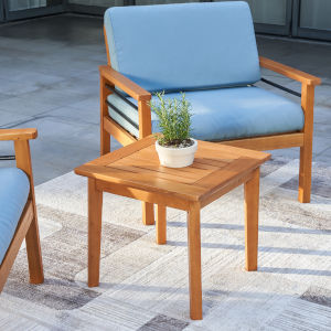 Gloucester Natural Wood Patio Side Table