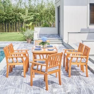 Kapalua Oil-Rubbed Honey Teak Seven-Piece Wooden Outdoor Dining Set