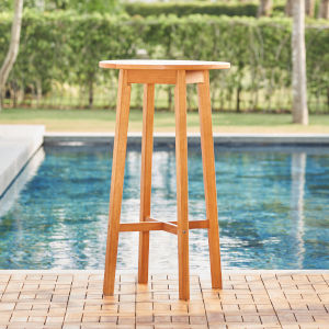 Kapalua Oil-Rubbed Honey Eucalyptus Wooden Outdoor Bar Table