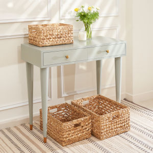 Aaliyah Sandy Three-Piece Organizing Basket Set