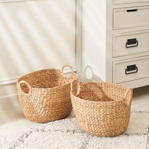 Aaliyah Sandy Two-Piece Storage Basket Set with Handles