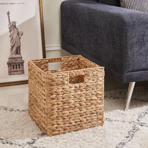 Amelia Sandy Two-Piece 12-Inch Storage Bin Foldable Basket Set