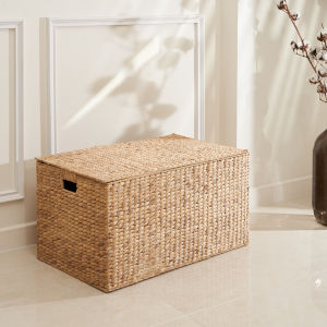 Ellie Sandy 28-Inch Lidded Laundry Basket Set with Washable Polyester Liner
