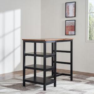 Brighton Mocha 23-Inch Shelf Wood Dining Table