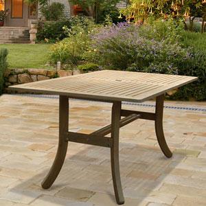 Renaissance Outdoor Hand-scraped Hardwood Rectangular Table