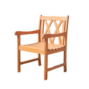 Malibu Eco-friendly Outdoor Hardwood Garden Arm Chair
