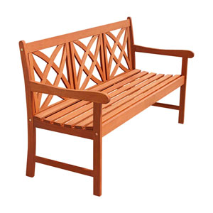 5-foot Eucalyptus Wood Garden Bench