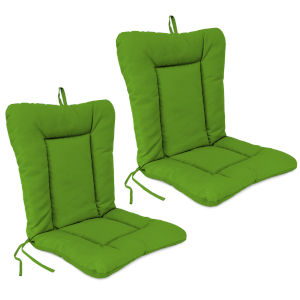 Veranda Citrus 21 x 38 Inches Outdoor Chair Cushions, Set of Two