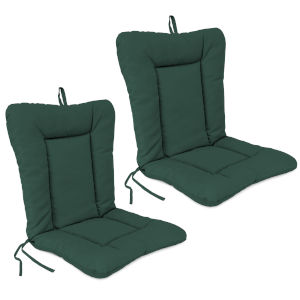Forest Green 21 x 38 Inches Outdoor Chair Cushions, Set of Two
