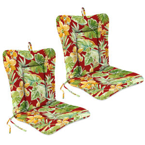 Beachcrest Poppy 21 x 38 Inches Outdoor Chair Cushions, Set of Two