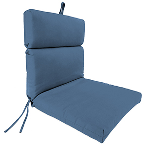 Canvas Sapphire Blue 22-Inch x 44-Inch x 4-Inch Outdoor Chair Cushion- 1-Pack