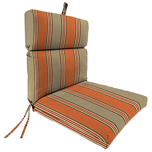 Passage Poppy Stripe 22-Inch x 44-Inch x 4-Inch Outdoor Chair Cushion- 1-Pack