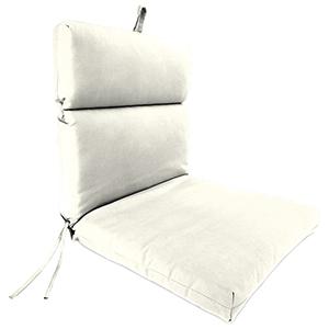 Sailcloth Salt 22-Inch x 44-Inch x 4-Inch Outdoor Chair Cushion- 1-Pack