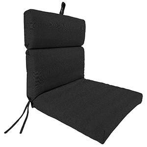 Loft Charcoal 22-Inch x 44-Inch x 4-Inch Outdoor Chair Cushion- 1-Pack
