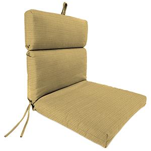 Dupione Stripe Bamboo Rain 22-Inch x 44-Inch x 4-Inch Outdoor Chair Cushion- 1-Pack