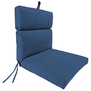 Dupione Stripe Galaxy 22-Inch x 44-Inch x 4-Inch Outdoor Chair Cushion- 1-Pack