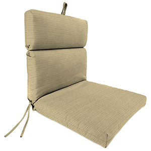 Dupione Stripe Sand Rain 22-Inch x 44-Inch x 4-Inch Outdoor Chair Cushion- 1-Pack