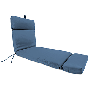 Canvas Sapphire Blue 22-Inch x 72-Inch x 4-Inch Outdoor Chaise Cushion- 1-Pack