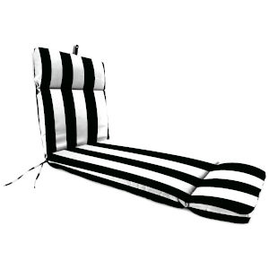 Cabana Stripe Black Chaise Lounge Cushion