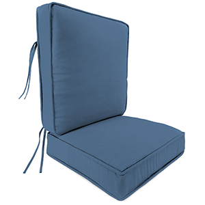 Canvas Sapphire Blue 2-Piece Attached Deep Seat Cushion