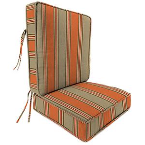 Passage Poppy Stripe 2-Piece Attached Deep Seat Cushion