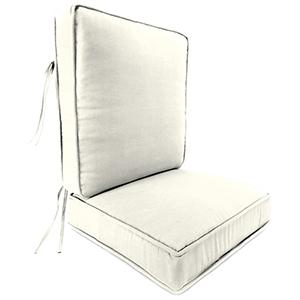Sailcloth Salt 2-Piece Attached Deep Seat Cushion
