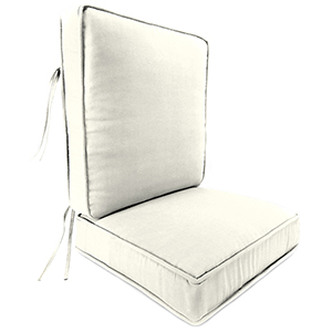 Sailcloth Salt Rain 2-Piece Attached Deep Seat Cushion