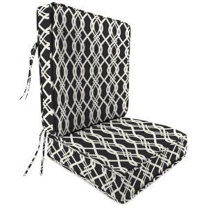 Hedda Tuxedo 22 x 24 Inches Two-Piece Deep Seat Chair Cushion