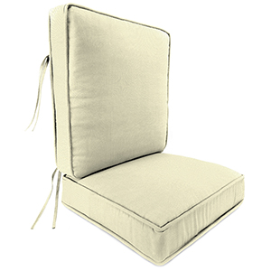 Sailcloth Sailor Rain 2-Piece Attached Deep Seat Cushion
