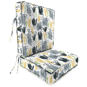 Flicker Stone 22 x 24 Inches Two-Piece Deep Seat Chair Cushion