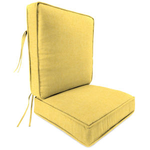 Bremlane Yellow 22 x 24 Inches Two-Piece Deep Seat Chair Cushion