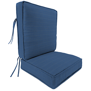 Dupione Stripe Galaxy 2-Piece Attached Deep Seat Cushion
