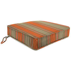 Passage Poppy Stripe 22.5-Inch x 21.5-Inch x 5-Inch Outdoor Deep Seat Chair Cushion- 1 Pack