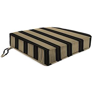 Berenson Stripe Tuxedo 22.5-Inch x 21.5-Inch x 5-Inch Outdoor Deep Seat Chair Cushion- 1 Pack