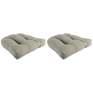 Spectrum Dove 18-Inch x 18-Inch x 4-Inch Outdoor Wicker Chair Cushions- Set of Two