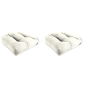 Sailcloth Salt 18-Inch x 18-Inch x 4-Inch Outdoor Wicker Chair Cushions- Set of Two