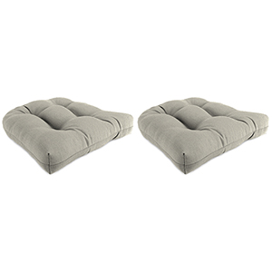 Action Ash 18-Inch x 18-Inch x 4-Inch Outdoor Wicker Chair Cushions- Set of Two