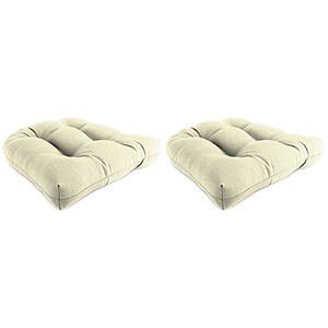 Sailcloth Sailor Rain 18-Inch x 18-Inch x 4-Inch Outdoor Wicker Chair Cushions- Set of Two